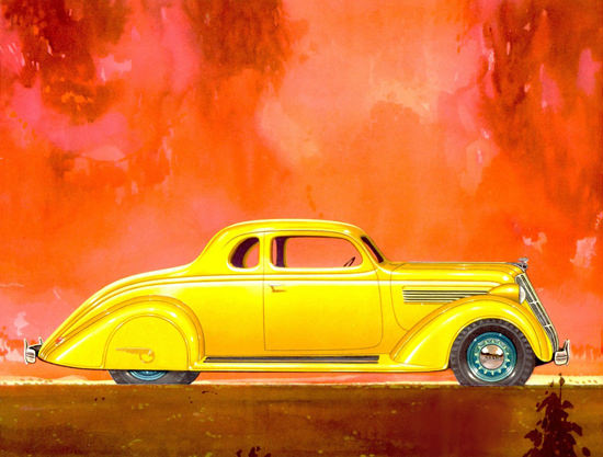 Nash 400 Coupe 1935 Yellow | Vintage Cars 1891-1970