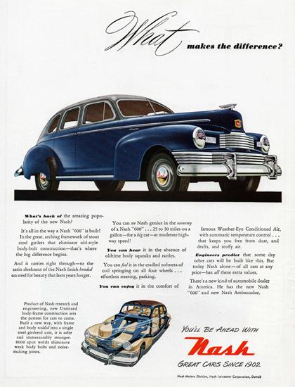 Nash 600 1947 Unitized Body Frame Construction | Vintage Cars 1891-1970
