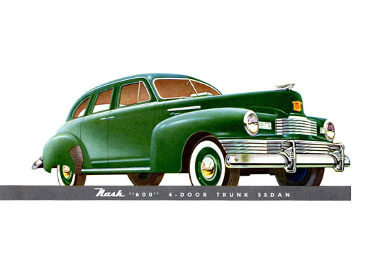 Nash 600 Trunk Sedan 1948 Green | Vintage Cars 1891-1970