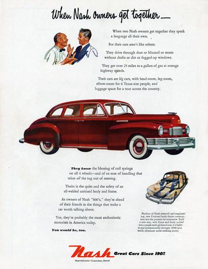 Nash 600 Trunk Sedan 1948 Nash Owners | Vintage Cars 1891-1970