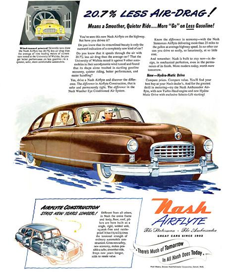 Nash Airflyte Statesman Ambassador Air-Drag | Vintage Cars 1891-1970