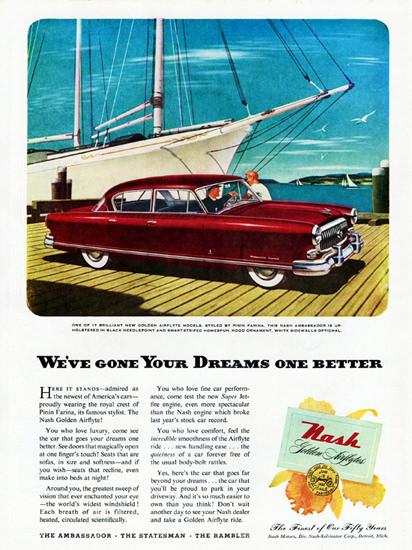 Nash Ambassador 1952 Dreams One Better | Vintage Cars 1891-1970