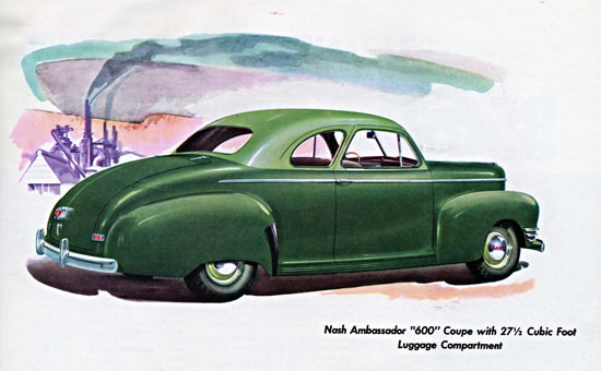 Nash Ambassador 600 Coupe 1942 Green | Vintage Cars 1891-1970