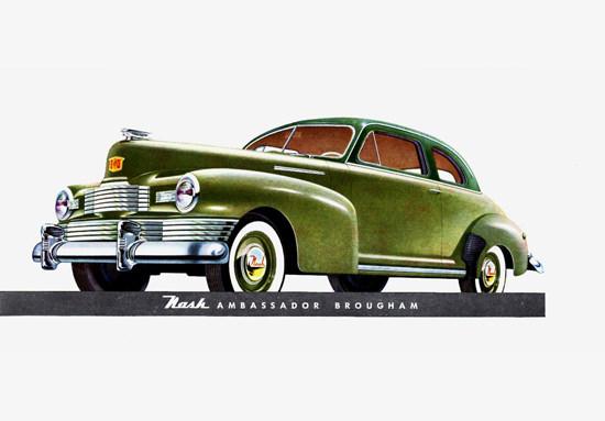 Nash Ambassador Brougham 1948 Green | Vintage Cars 1891-1970