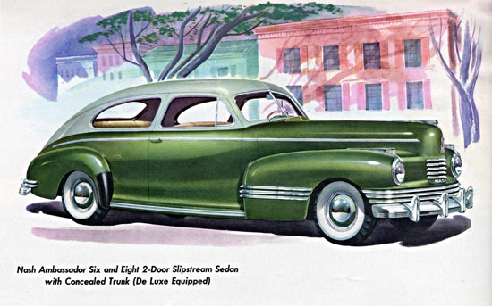 Nash Ambassador De Luxe Slipstream 1942 | Vintage Cars 1891-1970