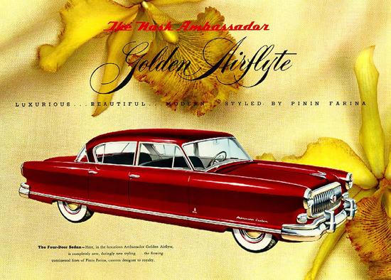 Nash Ambassador Golden Airflyte By Pinin Farina | Vintage Cars 1891-1970