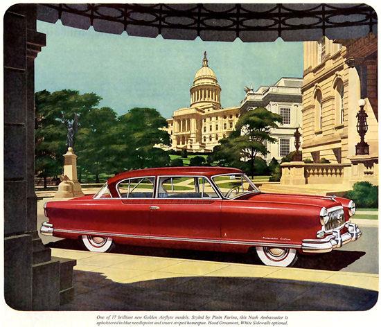 Nash Ambassador Pinin Farina Red | Vintage Cars 1891-1970