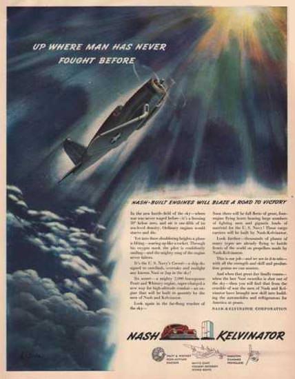 Nash Kelvinator Blaze A Road To Victory 1942 | Vintage War Propaganda Posters 1891-1970