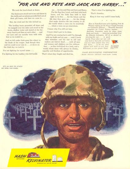 Nash Kelvinator For Joe Pete Jack Harry 1944 | Vintage War Propaganda Posters 1891-1970