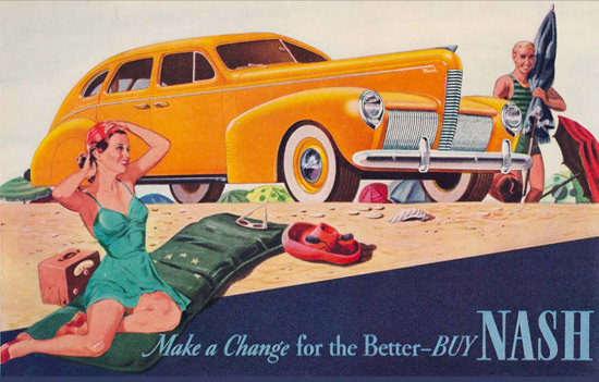 Nash Make A Change For The Better Beach | Sex Appeal Vintage Ads and Covers 1891-1970