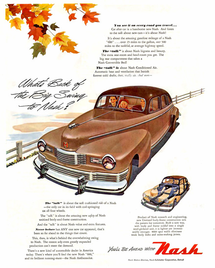 Nash Talk You Will Be Ahead With Brown | Vintage Cars 1891-1970