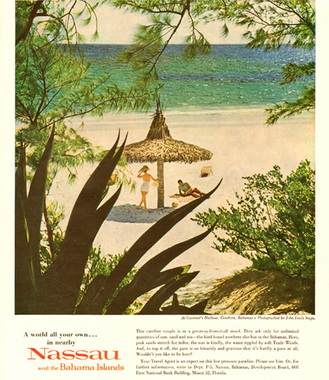 Nassau And The Bahamas 1960   Vintage Travel Posters 1891-1970