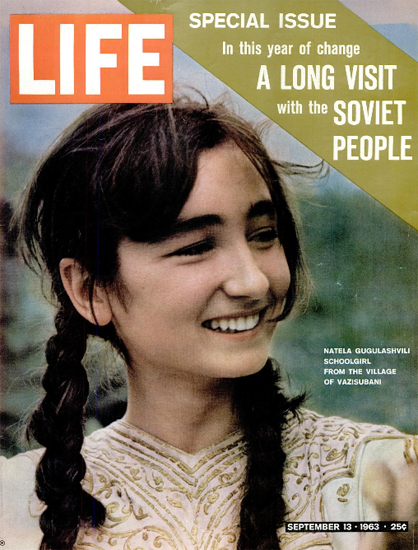 Natela Gugulashvili from Vazisubani 13 Sep 1963 Copyright Life Magazine | Life Magazine Color Photo Covers 1937-1970