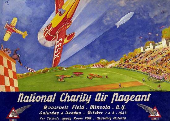 National Charity Air Pageant 1933 | Vintage Ad and Cover Art 1891-1970