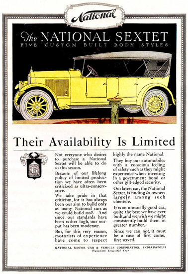 National Sextet 1919 Indianapolis | Vintage Cars 1891-1970