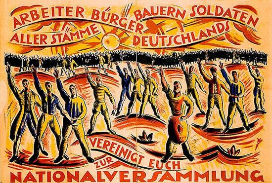 Nationalversammlung Deutschland 1919 C Klein | Vintage War Propaganda Posters 1891-1970