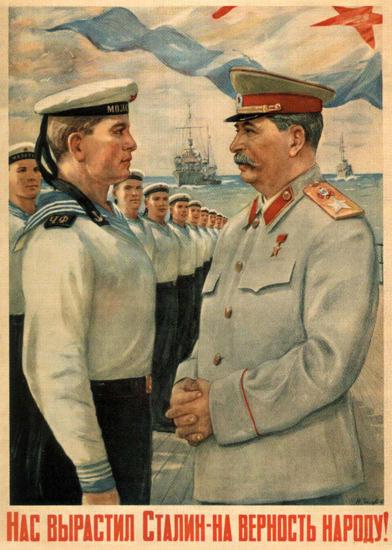 Navy Josef Stalin USSR Russia 0681   Vintage War Propaganda Posters 1891-1970