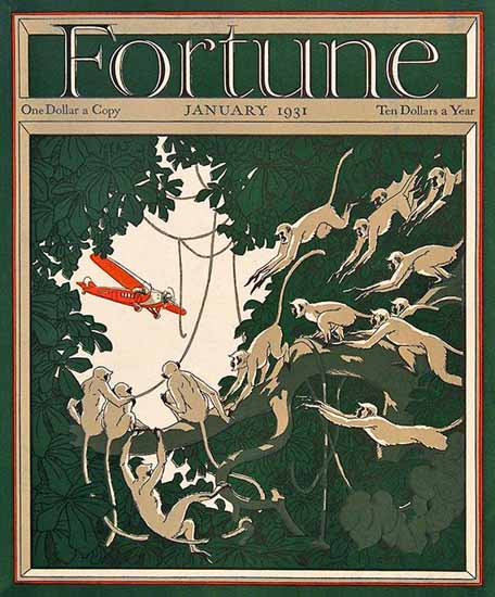 Neal Bose Fortune Magazine January 1931 Copyright | Fortune Magazine Graphic Art Covers 1930-1959