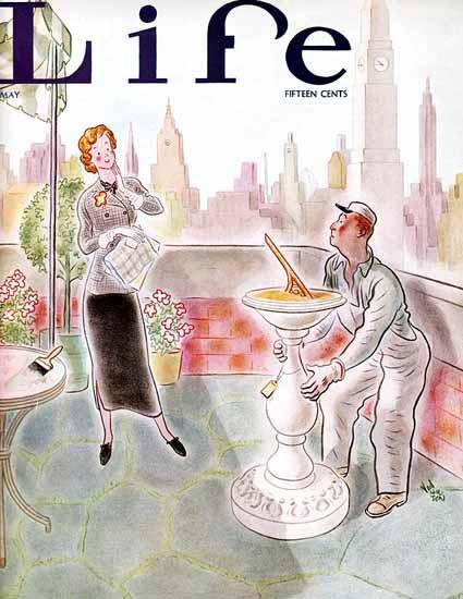 Ned Hilton Life Humor Magazine 1935-05 Copyright | Life Magazine Graphic Art Covers 1891-1936