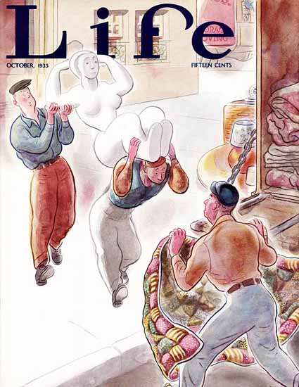 Ned Hilton Life Humor Magazine 1935-10 Copyright | Life Magazine Graphic Art Covers 1891-1936