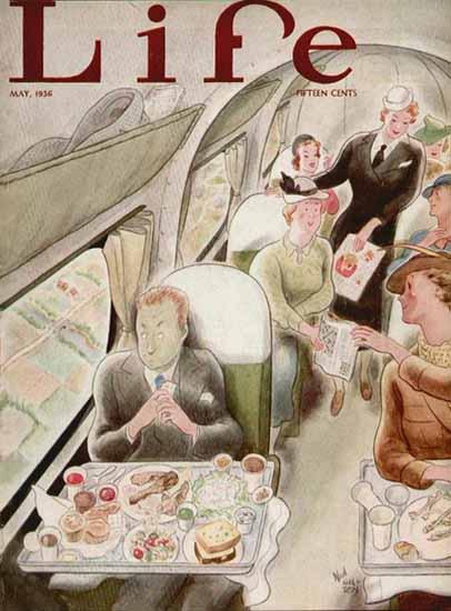 Ned Hilton Life Humor Magazine 1936-05 Copyright   Life Magazine Graphic Art Covers 1891-1936