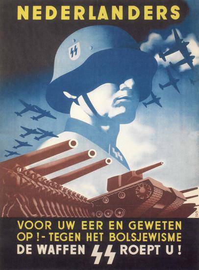 Nederlanders De Waffen SS Roept U Netherlands | Vintage War Propaganda Posters 1891-1970