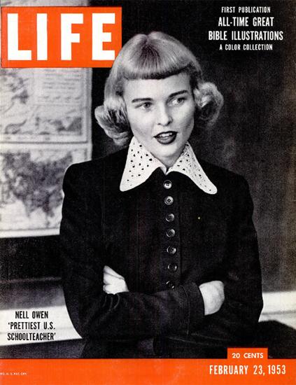 Nell Owen Schoolteacher 23 Feb 1953 Copyright Life Magazine | Life Magazine BW Photo Covers 1936-1970