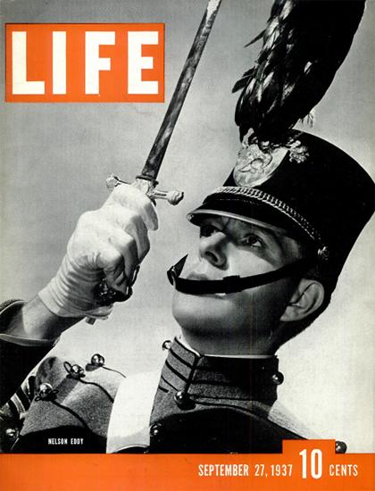 Nelson Eddy 27 Sep 1937 Copyright Life Magazine   Life Magazine BW Photo Covers 1936-1970