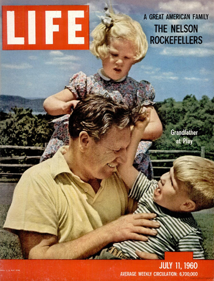 Nelson Rockefeller Family 11 Jul 1960 Copyright Life Magazine | Life Magazine Color Photo Covers 1937-1970