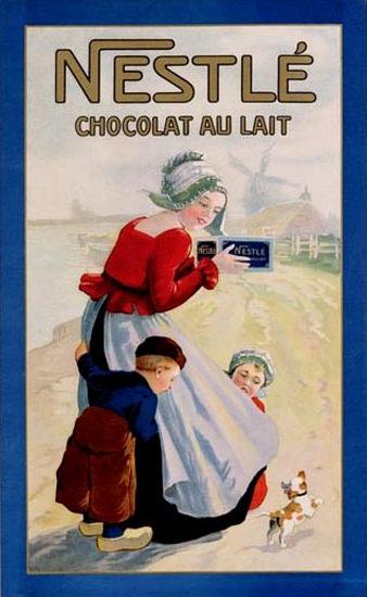Nestle Chocolat Au Lait 1920 Netherlands | Vintage Ad and Cover Art 1891-1970