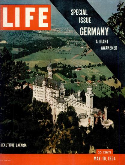 Neuschwanstein Castle Bavaria 10 May 1954 Copyright Life Magazine   Life Magazine Color Photo Covers 1937-1970