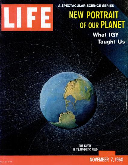 New Portrait of our Planet 7 Nov 1960 Copyright Life Magazine | Life Magazine Color Photo Covers 1937-1970
