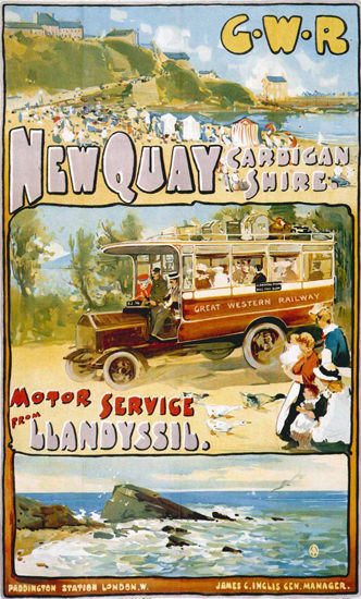 New Quay Cardigan Shire Llandyssil GWR London | Vintage Travel Posters 1891-1970