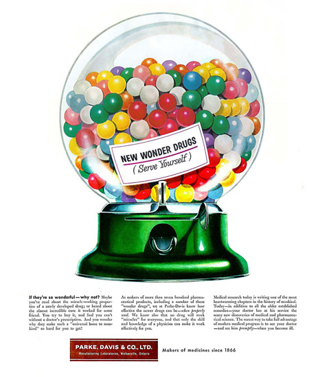 New Wonder Drugs 1955 Parke Davis Co | Vintage Ad and Cover Art 1891-1970