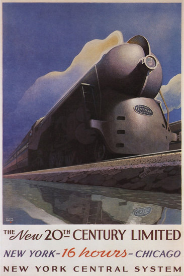 New York Central 20th Century Limited 1938 | Vintage Travel Posters 1891-1970