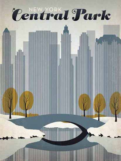 New York Central Park Poster | Vintage Travel Posters 1891-1970
