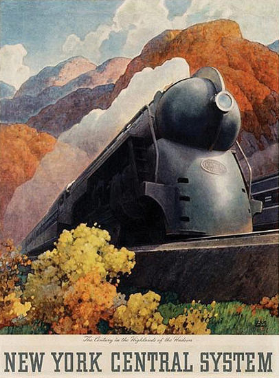 New York Central System 1938 Railroad | Vintage Travel Posters 1891-1970