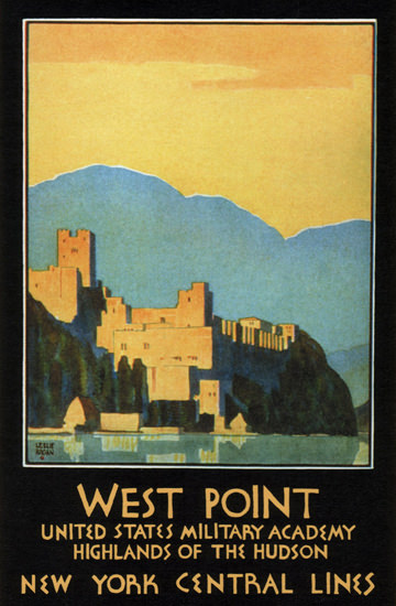 New York Central West Point Academy 1934 | Vintage Travel Posters 1891-1970