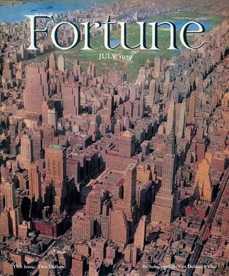 New York Issue Fortune Magazine July 1939 Copyright | Fortune Magazine Graphic Art Covers 1930-1959