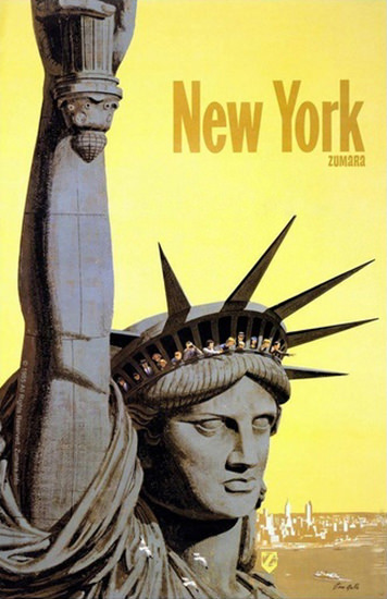 New York Statue Of Liberty | Vintage Travel Posters 1891-1970