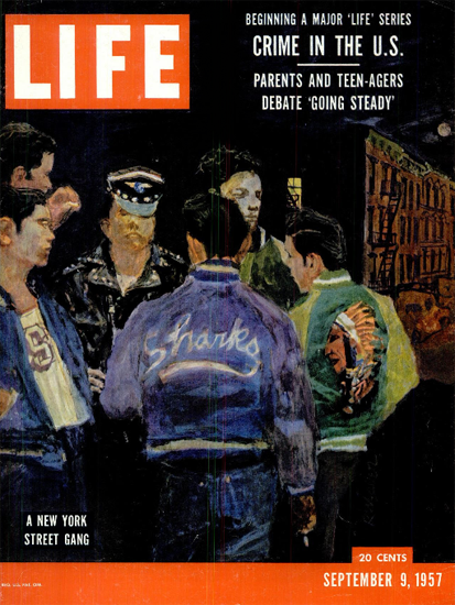 New York Street Gang 9 Sep 1957 Copyright Life Magazine | Life Magazine Color Photo Covers 1937-1970