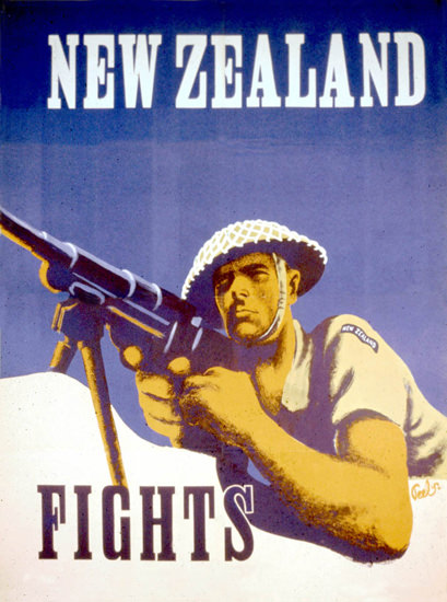 New Zealand Fights | Vintage War Propaganda Posters 1891-1970