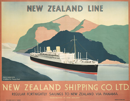 New Zealand Line New Zealand Shipping Co 1930 | Vintage Travel Posters 1891-1970