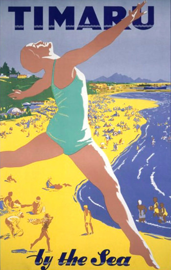 New Zealand Timaru By The Sea 1930s | Sex Appeal Vintage Ads and Covers 1891-1970