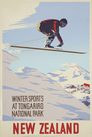 New Zealand Tongariro National Park 1930s | Vintage Travel Posters 1891-1970