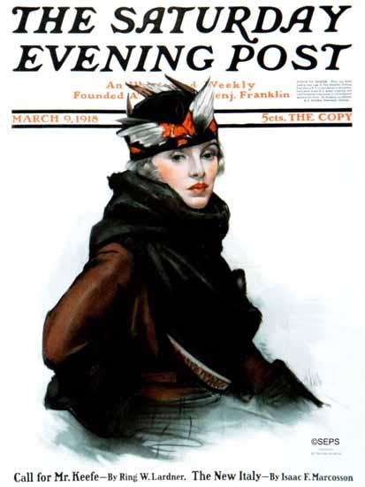 Neysa McMein Artist Saturday Evening Post 1918_03_09   The Saturday Evening Post Graphic Art Covers 1892-1930