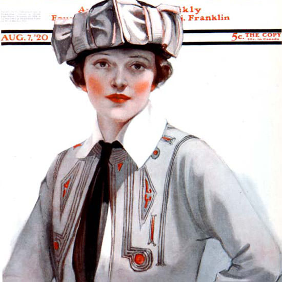 Neysa McMein Artist Saturday Evening Post 1920_08_07 Copyright crop | Best of Vintage Cover Art 1900-1970
