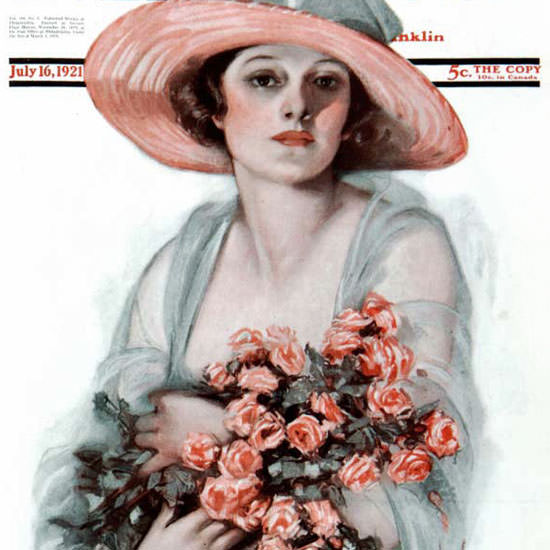 Neysa McMein Artist Saturday Evening Post 1921_07_16 Copyright crop | Best of Vintage Cover Art 1900-1970