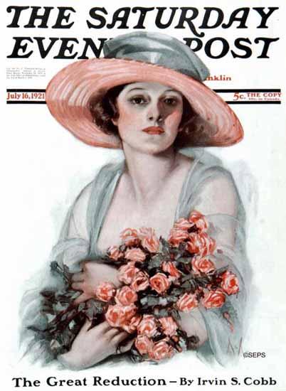 Neysa McMein Artist Saturday Evening Post 1921_07_16 | The Saturday Evening Post Graphic Art Covers 1892-1930