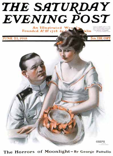 Neysa McMein Cover Artist Saturday Evening Post 1918_06_22 | The Saturday Evening Post Graphic Art Covers 1892-1930